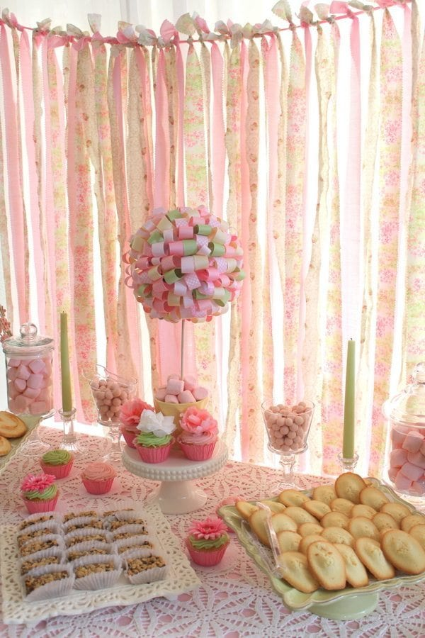 My Cup Runneth Over - A Tea Party On A Budget - Backdrop