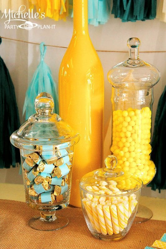 Yellow Aqua Baby Shower
