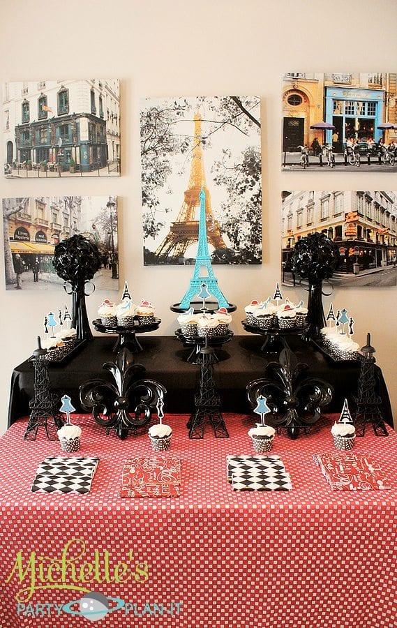 """A Day in Paris"" Dessert Table   Parisian Party Ideas"