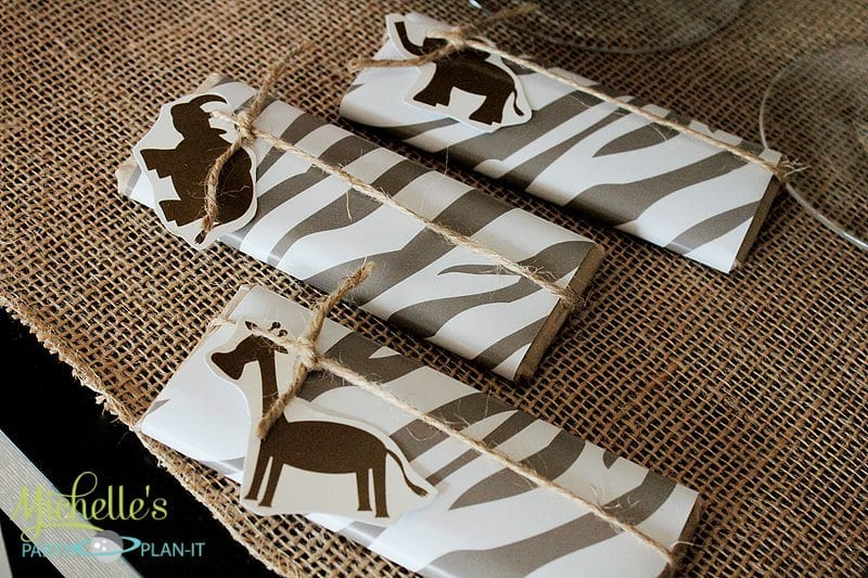 Safari Candy Bar Wrappers