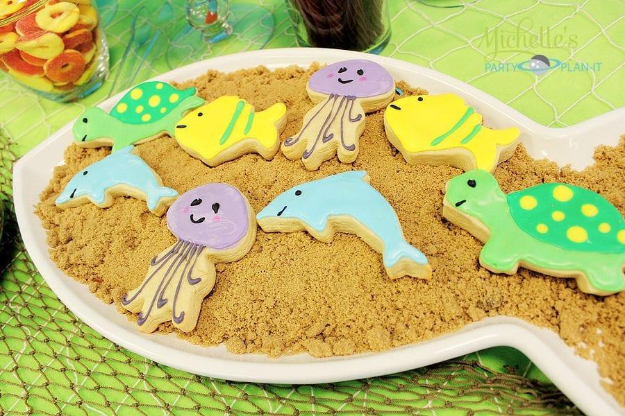 Sea Creature Cookies - under the sea party ideas
