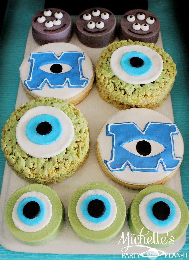 Monsters University Oreos and Rice Krispie Treats