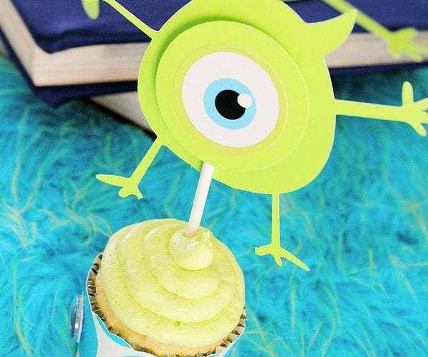 Monster Cupcake Topper Tutorial