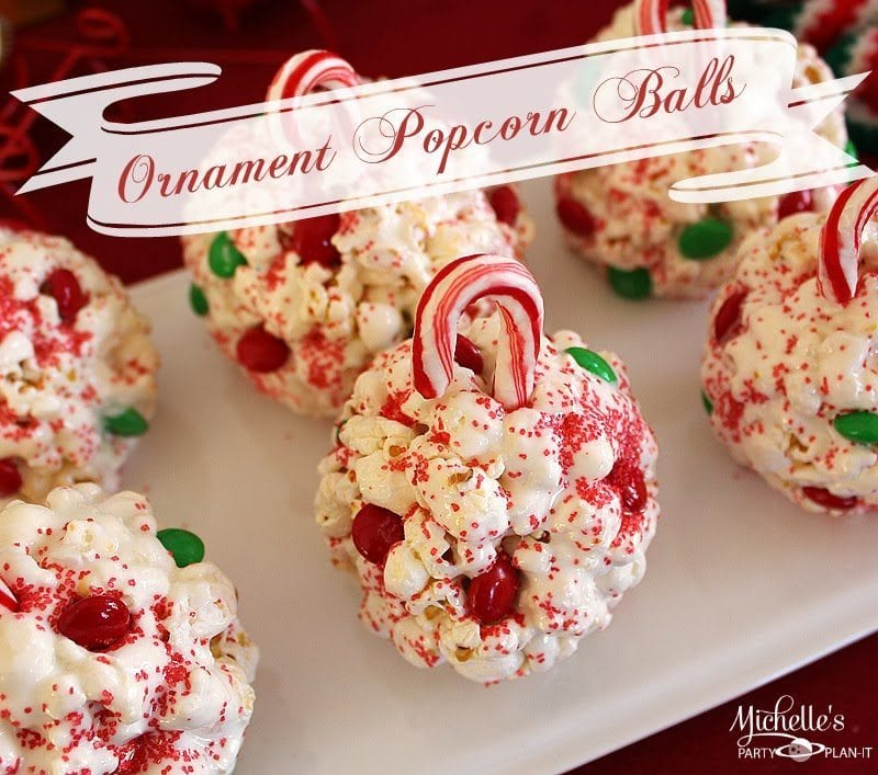 Easy Ornament Popcorn Balls Recipe Michelles Party Plan It