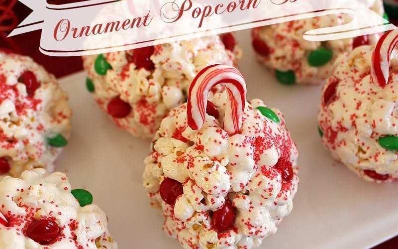 Easy Ornament Popcorn Balls Recipe
