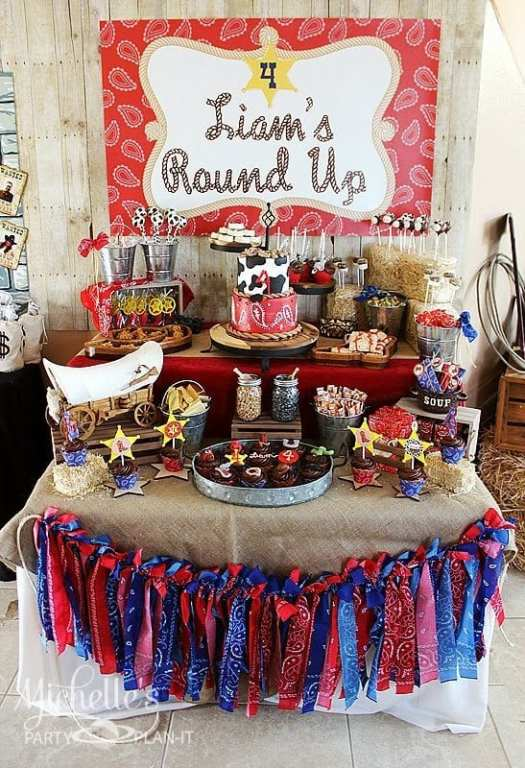 Cowboy Themed Western Birthday Party Idea For Boys