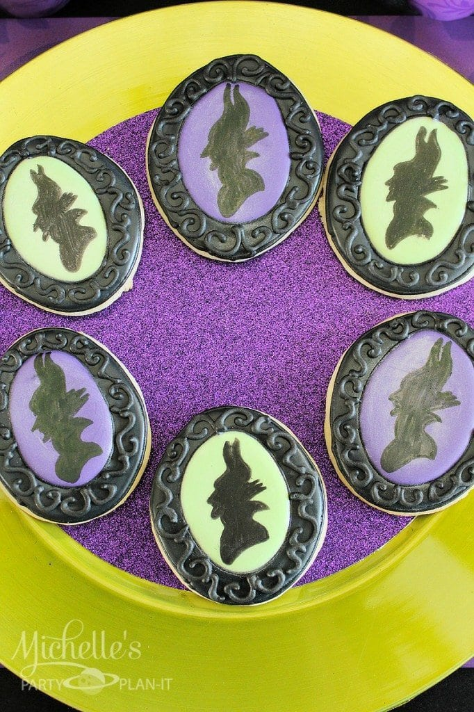 Maleficent Party Ideas - Maleficent Cookies