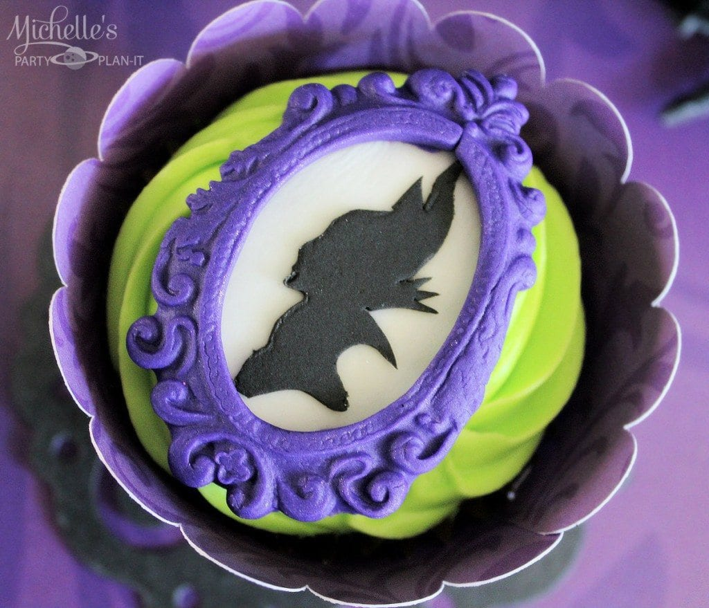 Maleficent Party Ideas - Maleficent Cupcakes