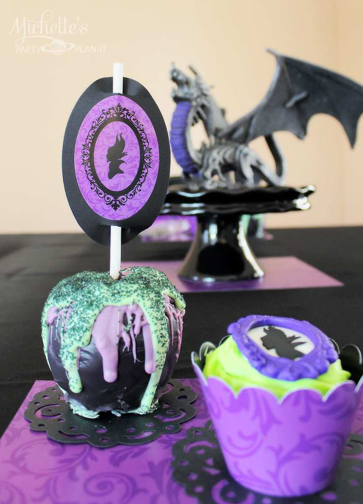 Maleficent Party Ideas - maleficent table setting