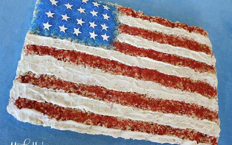 American Flag Cereal Treats | Recipe