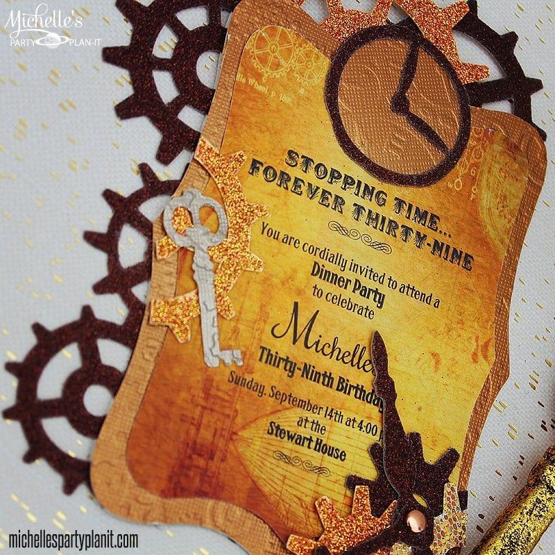 steampunk party invitation - sizzix tutorial