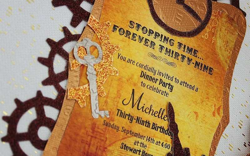 Steampunk Party Invitation – Sizzix Tutorial