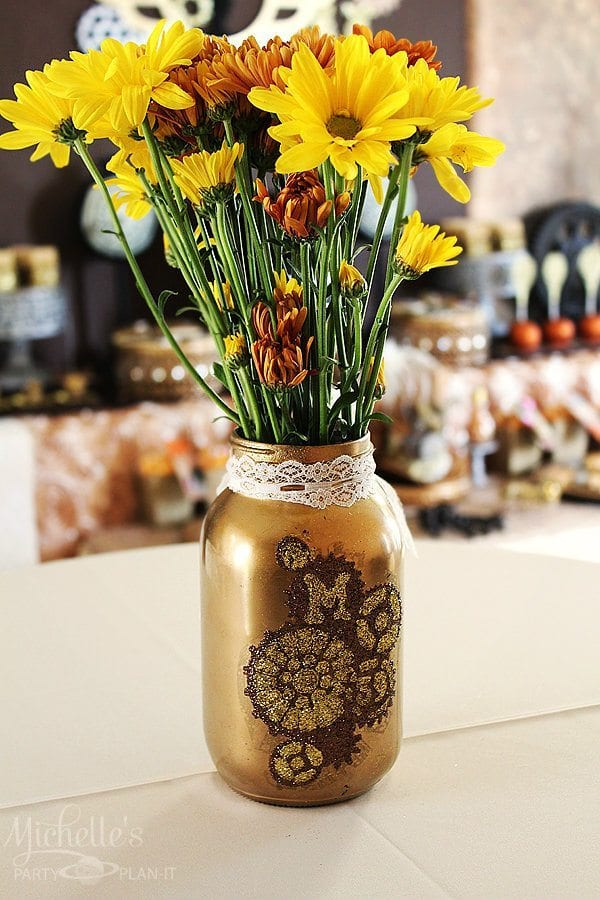 Steampunk Mason Jar