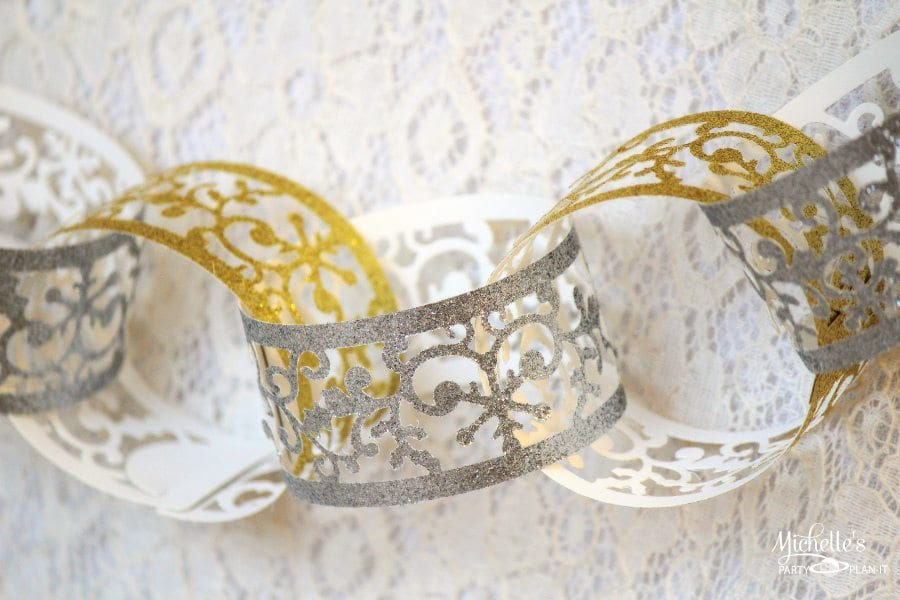 Easy Paper Chain Party Decor