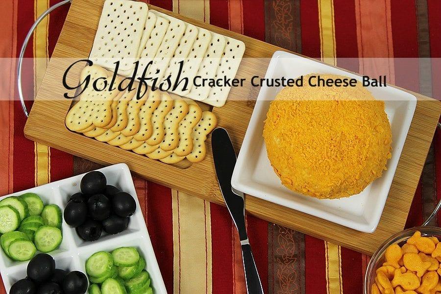 Goldfish Cracker Crusted Cheese Ball | Recipe
