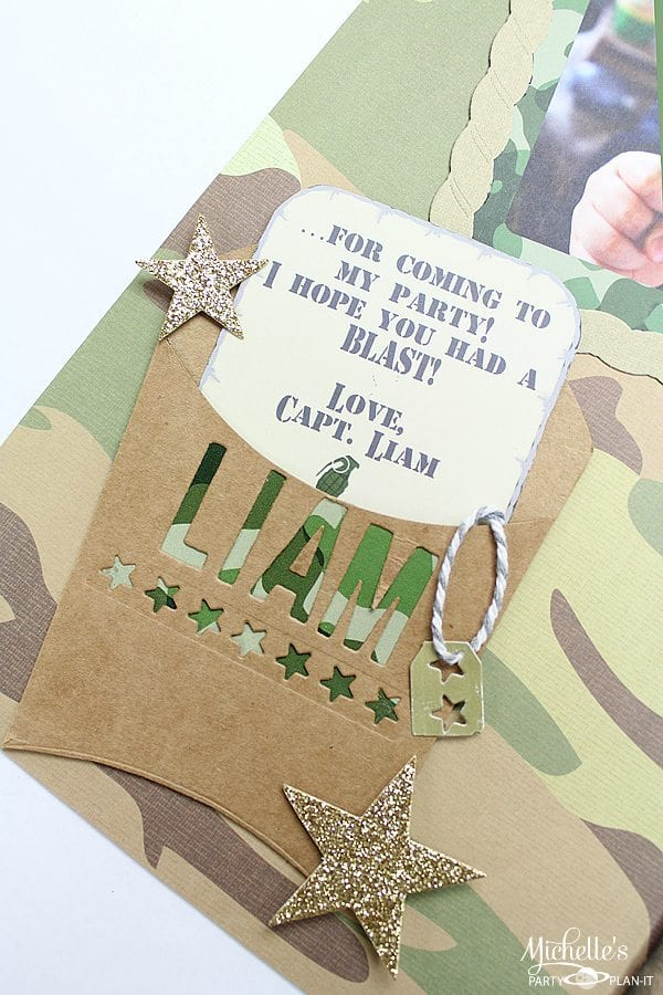 Army Themed Scrapbook Layout