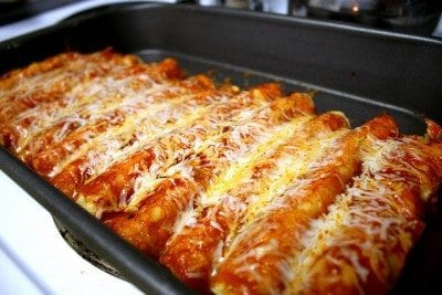 Easy-Cheesy-Chicken-Enchiladas