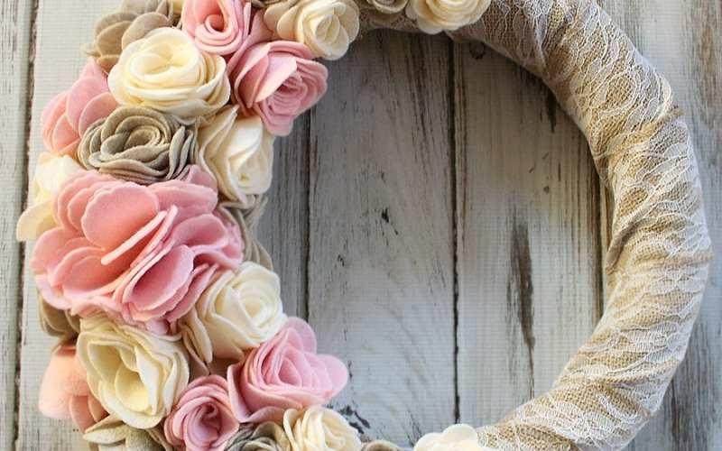 Felt Flower Wreath | Sizzix Tutorial