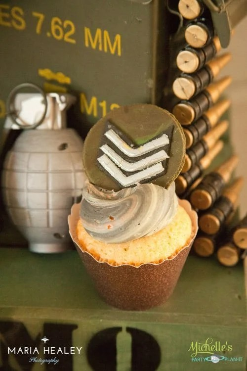 Army Party Ideas Cupcake Topper