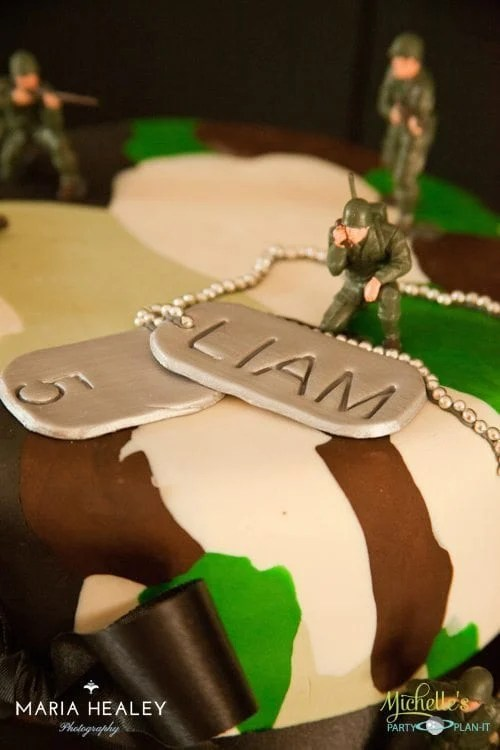 Army Party Ideas Cake