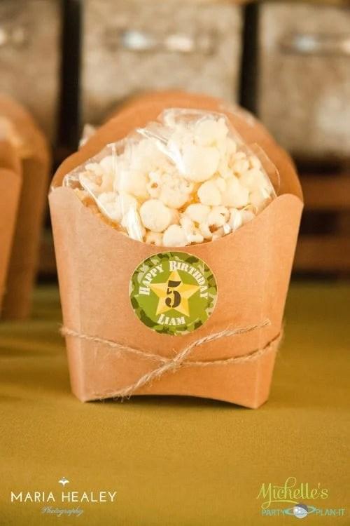 Army Popcorn Box