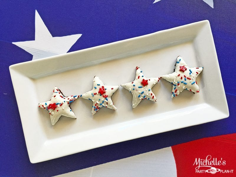 Patriotic Marshmallow Brownies Recipe| Party Gals Linky Party #1