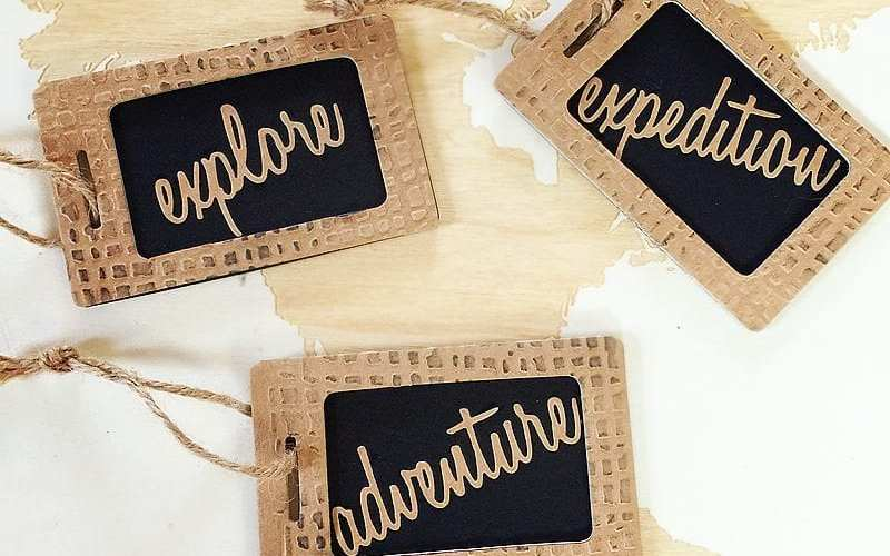 Adventure Luggage Tag| Sizzix Tutorial