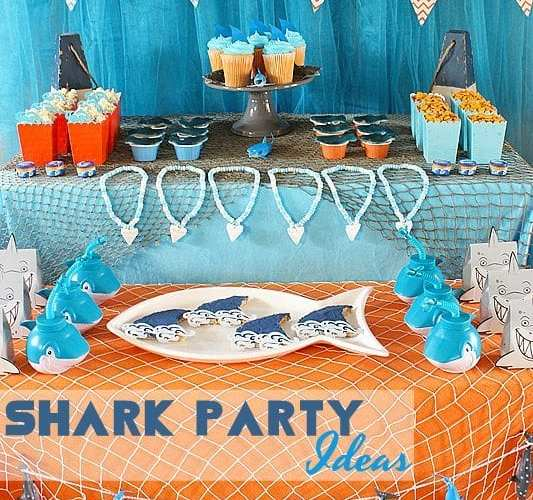 Shark party table1