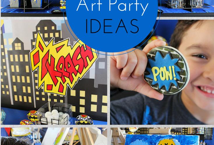 How to Plan A Superhero Art Party | Social Artworking Junior