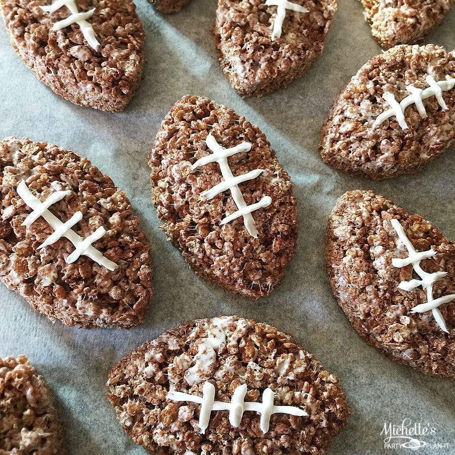 Chocolate Cereal Treats Footballs by Michelle Stewart