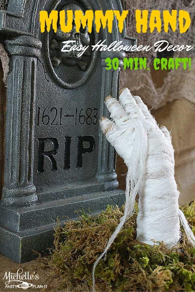 Easy Halloween Decor | DIY Mummy Hand