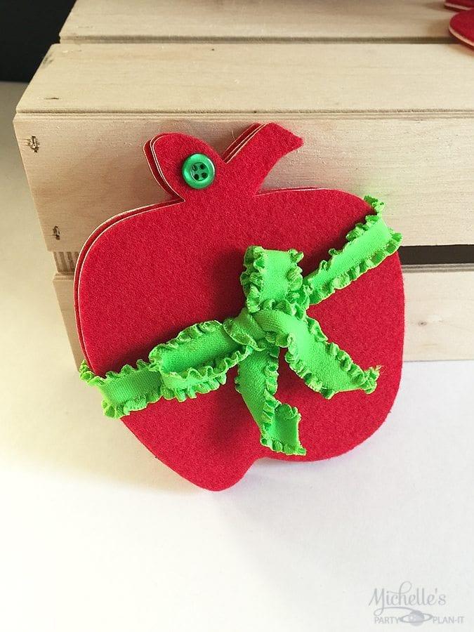 DIY Felt Apple Coasters | Classrooms With Felt Project Blog Hop