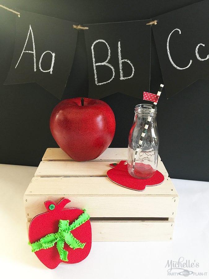 Apple Coasters for Teacher