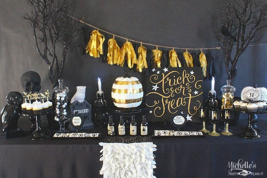 Black and Gold Halloween Party