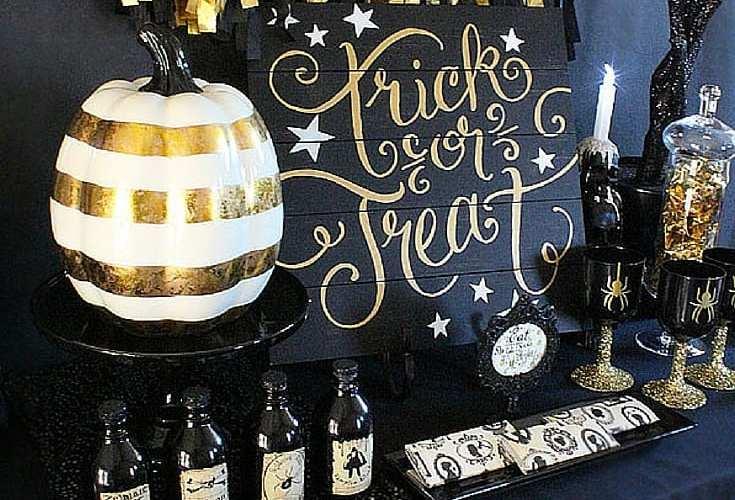 Black n gold halloween party ideas