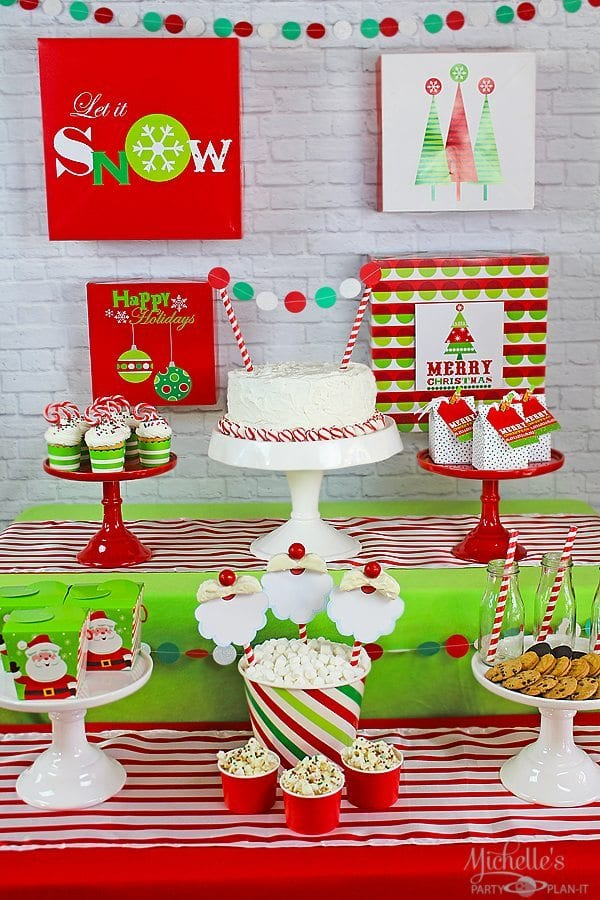 how to plan a christmas party for kids plus easy santa cookies