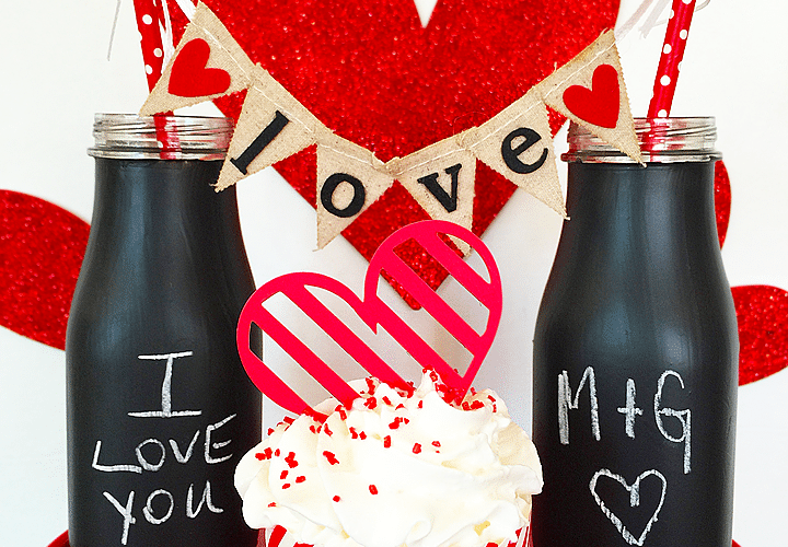 Love Note Chalkboard Glasses | Valentine's Day Craft