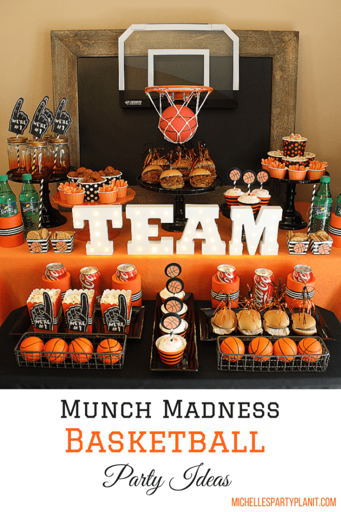 Munch Madness - Basketball Party Ideas