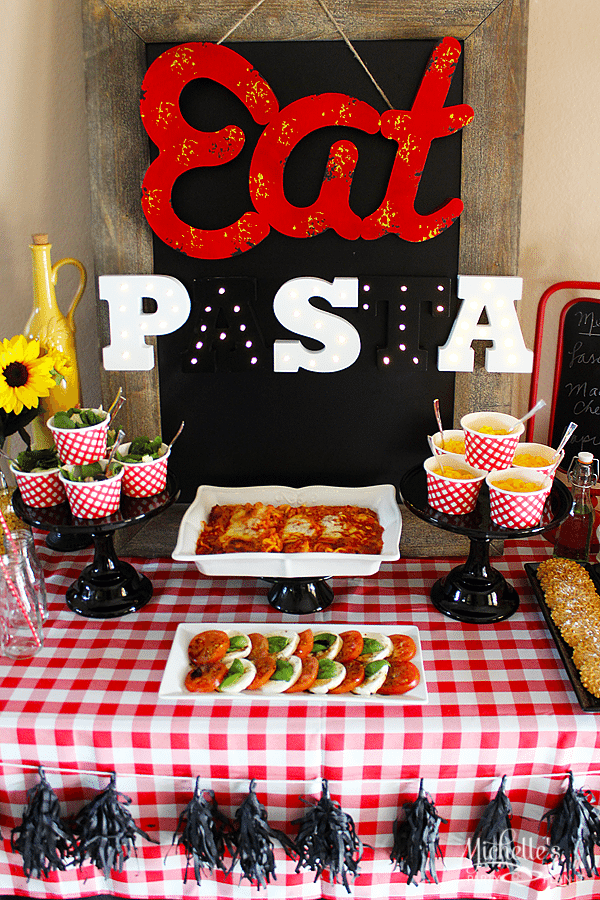 Italian Dinner Ideas For Party Part - 47: Pasta Party Ideas