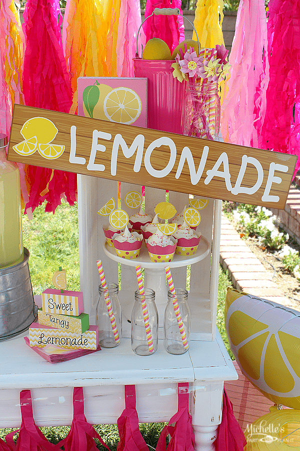 Yellow Amp Pink Lemonade Party Summer Party Ideas
