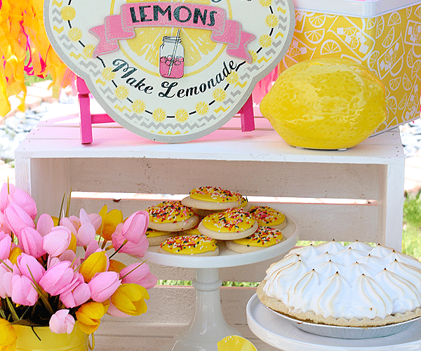 Yellow & Pink Lemonade Party | Summer Party Ideas