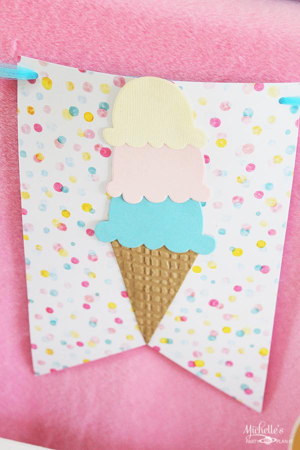 Ice Cream Social DIY Banner