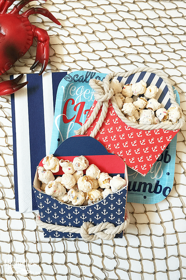 Nautical Treat Boxes Anchors Aweigh!