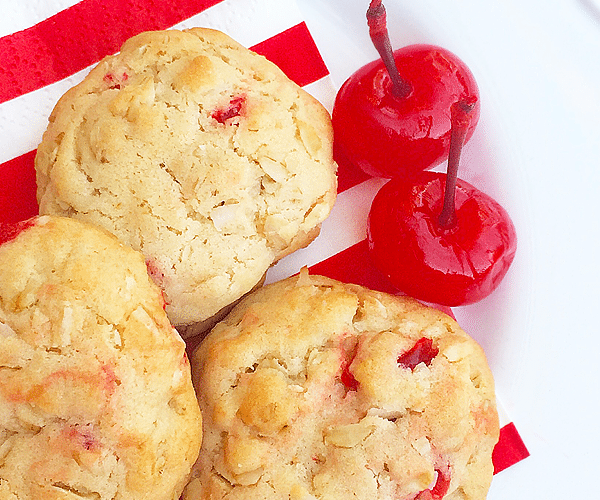 Oatmeal Cherry Coconut Cookies Recipe