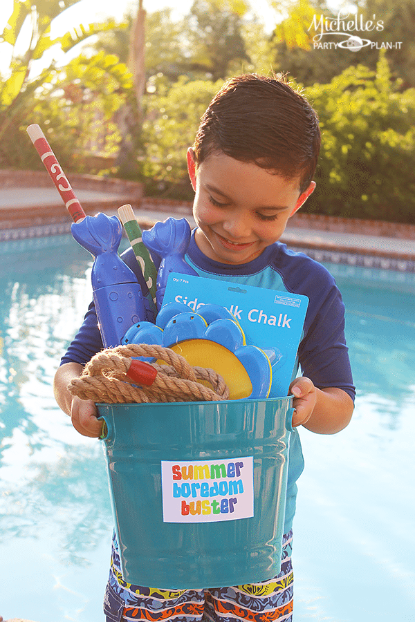 Fun Summer Activity Ideas - Summer Boredom Buster Bucket O' Fun