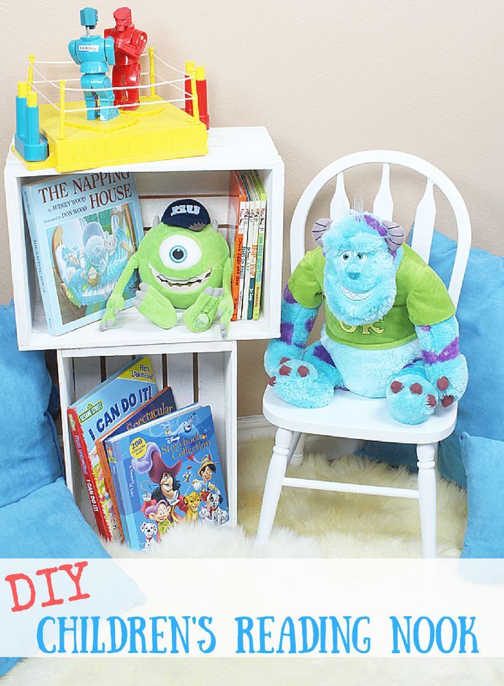 DIY Children's Reading Nook with Americana Decor and Michaels