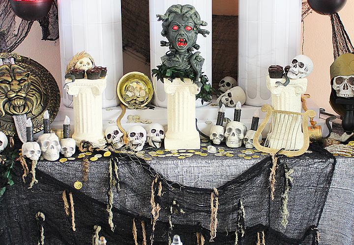 Teen Halloween Party Ideas   Greek Mythology Party