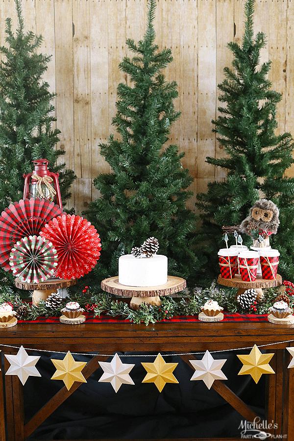 Camp Christmas Dessert Table Ideas Michelle S Party Plan It