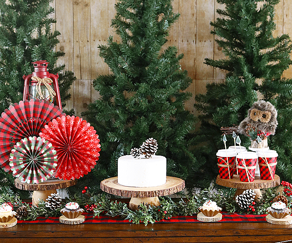 Camp Christmas Dessert Table Ideas