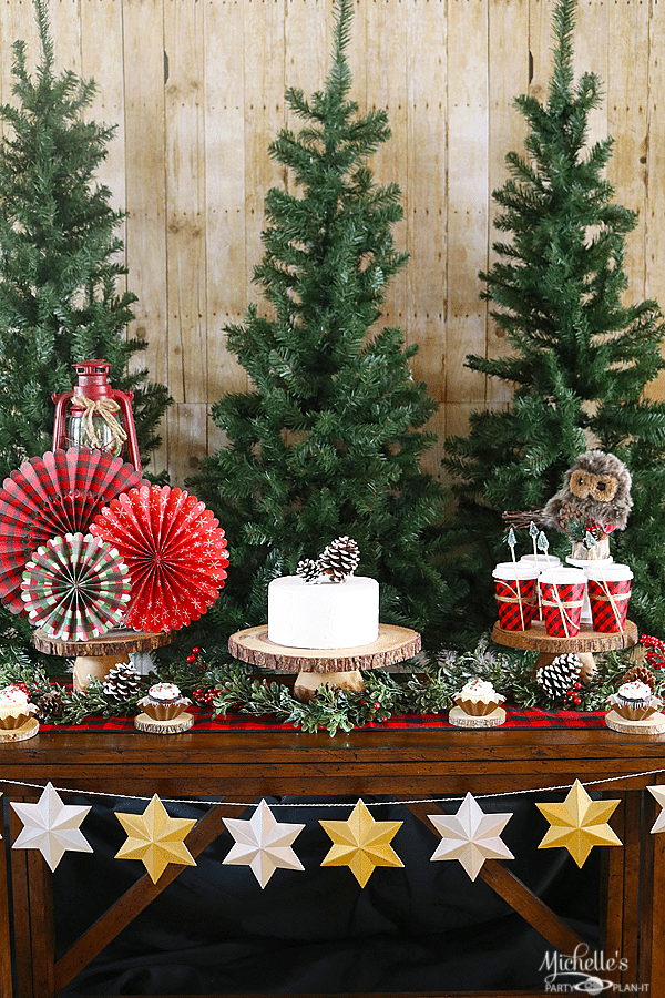 Christmas Party Table Part - 42: Camp Christmas Dessert Table Ideas